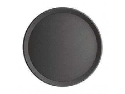 67960 kristallon kulaty protiskluzovy tac plastovy cerny 406mm