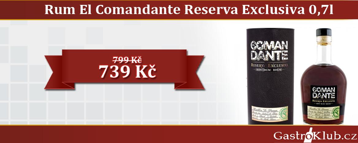 El Comandante Reserva Exclusiva v tubě 0,7 l