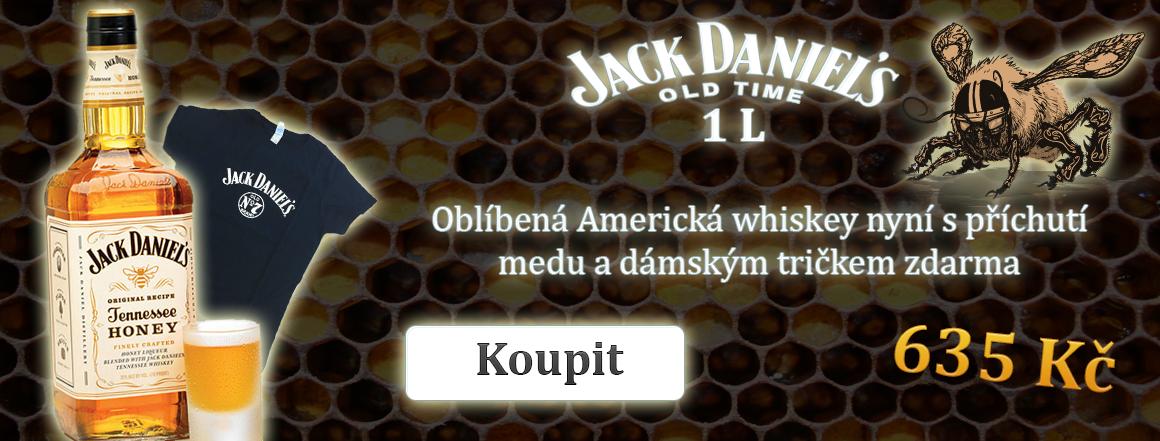 Jack Daniels Honey 1 l + dámské tričko ZDARMA