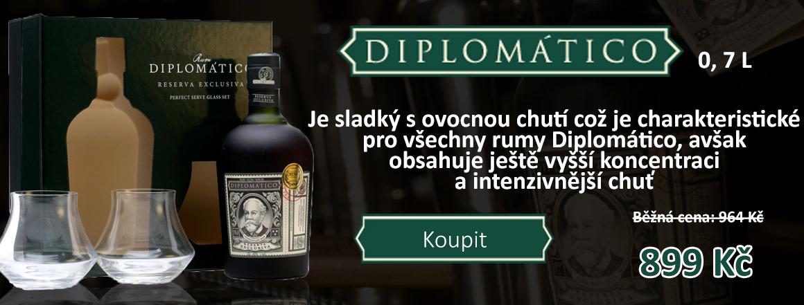 Diplomatico Reserva 12 0,7 l dárkové balení se skeničkami