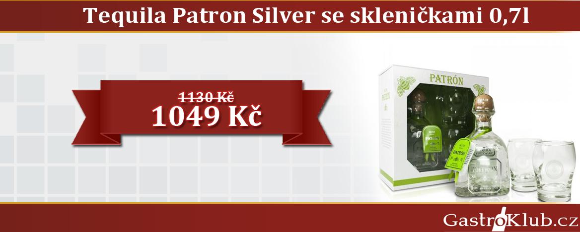 Tequila Patron Silver 0,7 l se skleničkami