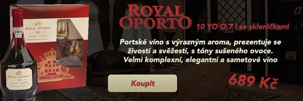 Royal Oporto 10YO 0,7 dárkové balení se skleničkami