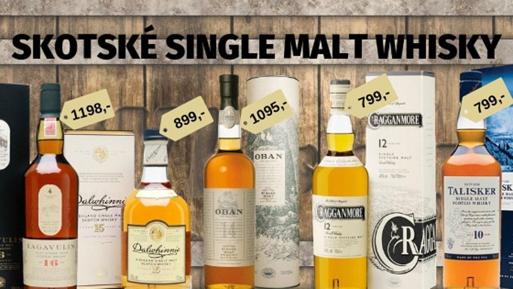 akce skotské whisky
