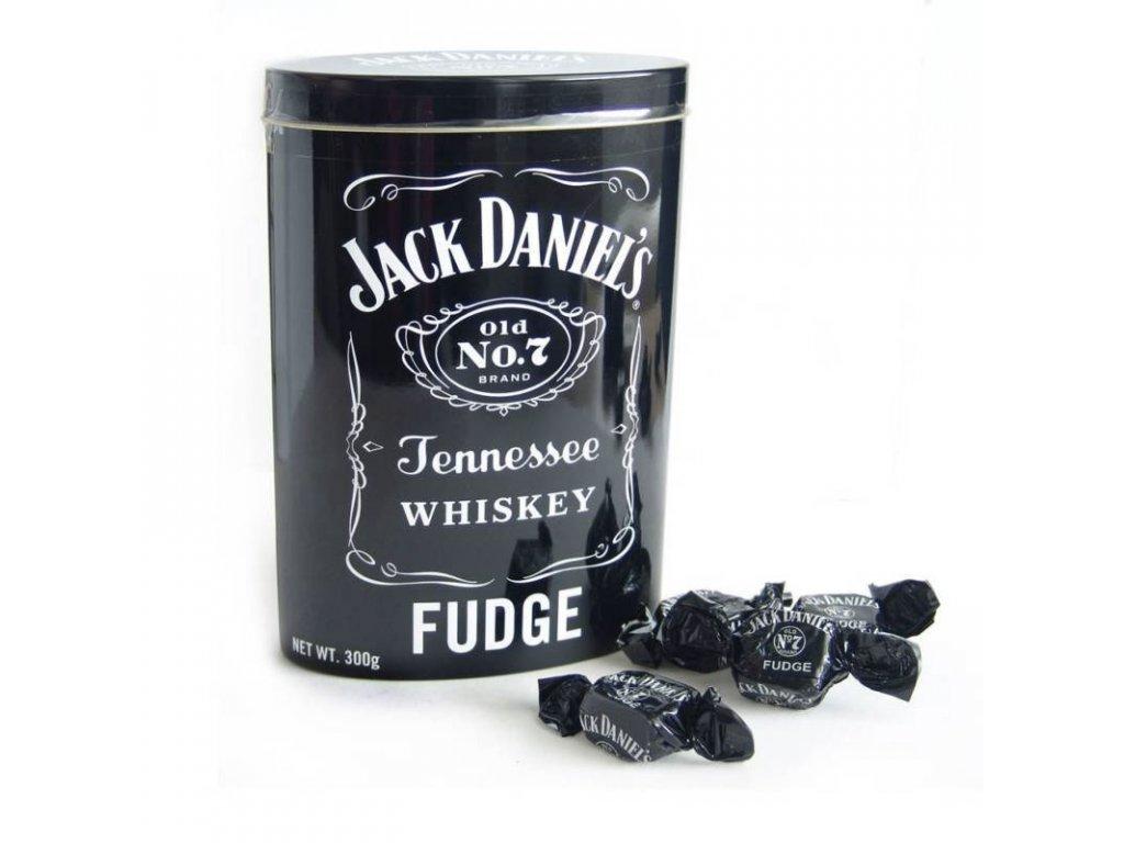 Jack Daniels Fudge bonbóny v plechu 300g
