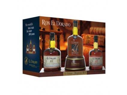El Dorado Display 12YO, 15YO, 21YO 3x0,7 l Demerara Distillers