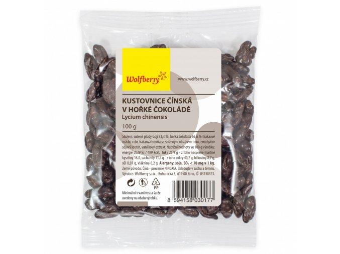 Wolfberry Goji Kustovnice čínská v hořké čokoládě 100g