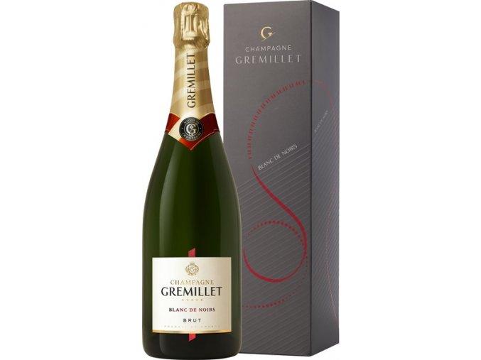 Champagne Gremillet Brut Blanc de Noirs v kartonku 0,75 l
