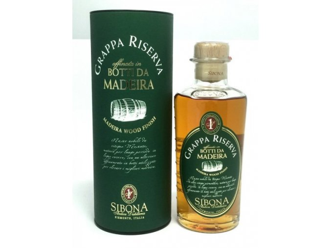 Grappa Sibona Riserva Madeira Wood 44% 0,5 l
