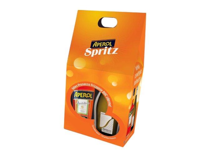 Aperol 0,7 l s Prosecco Saccheto 0,75l dárkový set