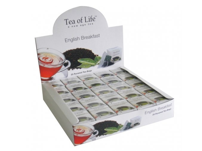 Černý čaj Tea of Life English Breakfast - černý čaj sáčkovy 25 ks