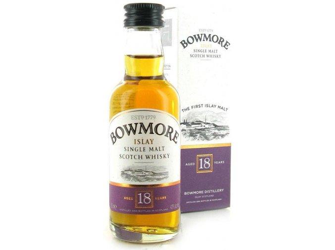 Bowmore 18YO Single Malt Scotch Whisky 43% 0,05l MINI