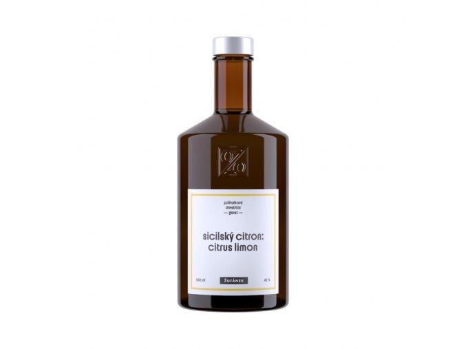 Žufánek Sicilský citrón - geist 42% 0,5l