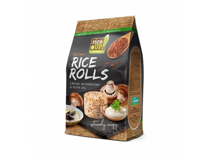 Rýžové minichlebíčky houby se smetanou a olivovým olejem 50g Rice Up