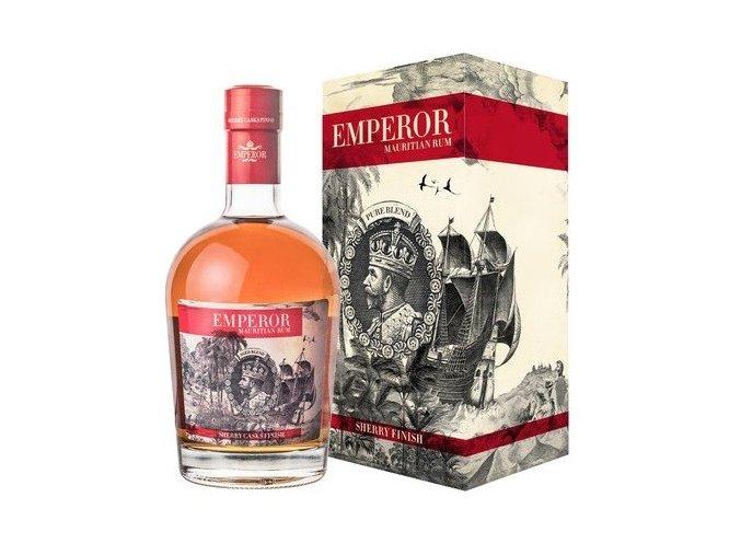 Rum Emperor Sherry Finish v dárkovém balení 40% 0,7l