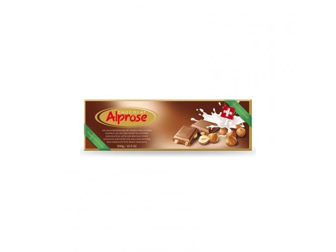 Alprose mléčná čokoláda s lískovými ořechy 300g