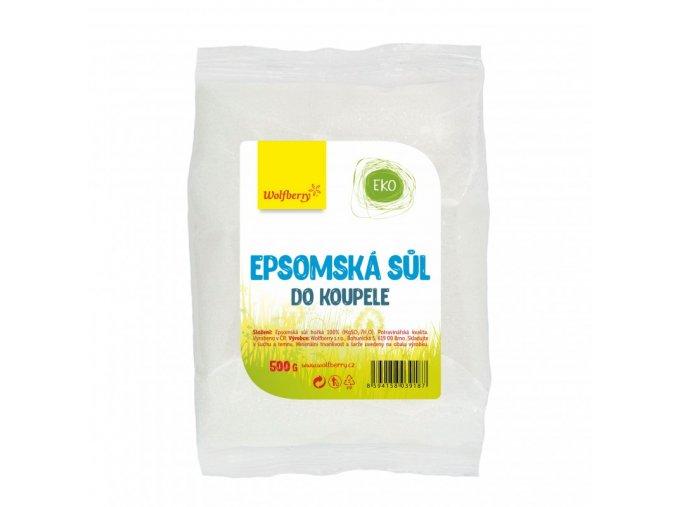 Epsomská léčivá sůl do koupele 500g Wolfberry