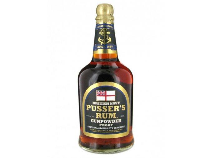 Rum Pussers Gunpowder British Navy Rum 54,5% 0,7 l