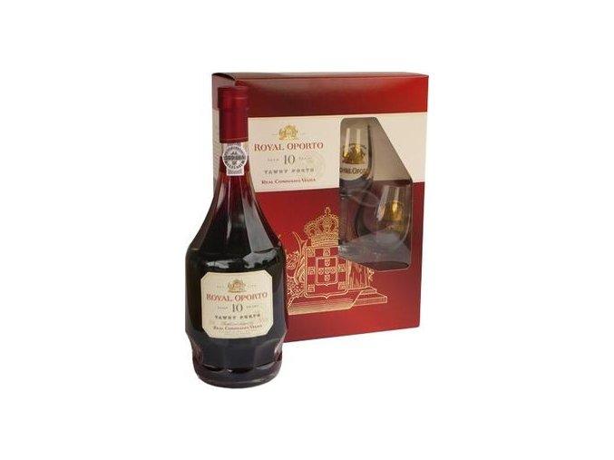 Royal Oporto Old Tawny 10 years 0,75 l dárkový box se skleničkami