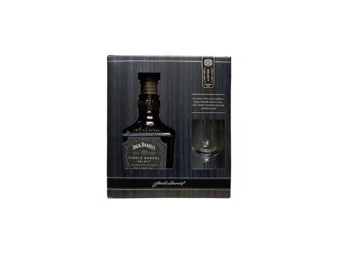 Jack Daniels Single Barrel 0,7 l se skleničkou