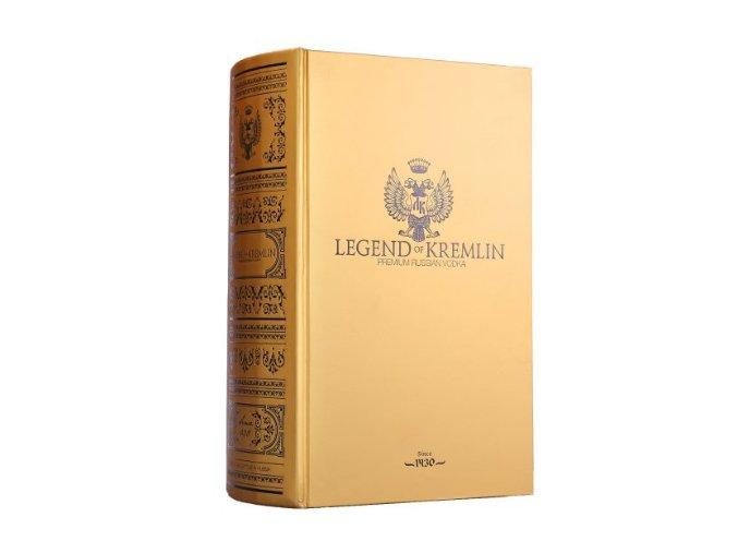 Vodka Legend of Kremlin Gold dárkové balení zlatá kniha 0,7 l