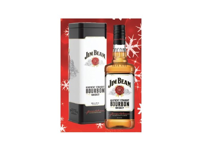 Jim Beam White Label 0,7 l v plechové tubě