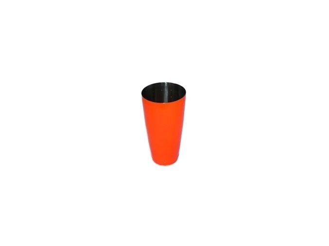 Koktejlový shaker pro barmany nerez neon oranžový 0,7 l