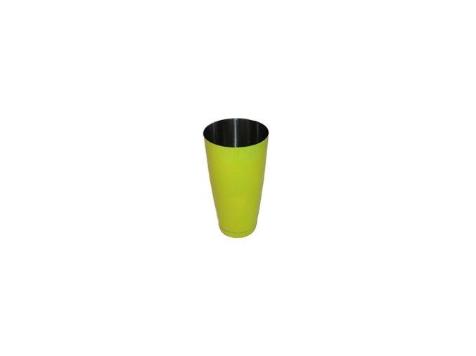Koktejlový shaker pro barmany nerez neon žlutý 0,7 l