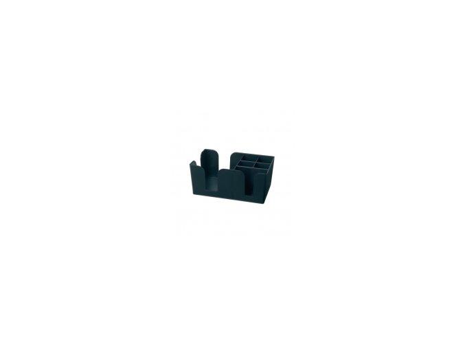 Plastový zásobník na brčka a ubrousky černý