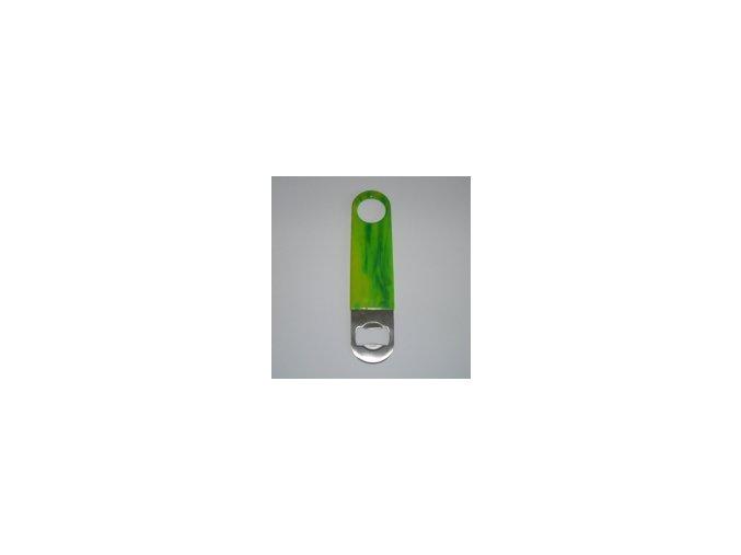Otvírák láhví pro barmany vinyl zelenožlutý