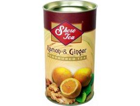 Černý čaj citrón a zázvor sypaný sáčkový 120g Shere Tea