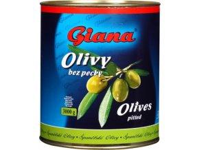 Olivy zelené bez pecky v plechu 3 Kg Giana