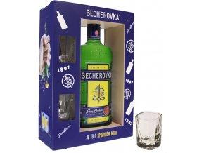 Becherovka 0,7 l dárkový box se skleničkami