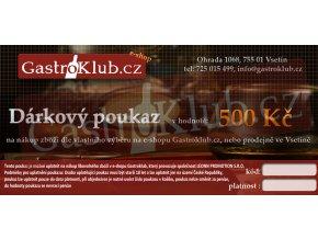 Dárkový Poukaz - 500 Kč