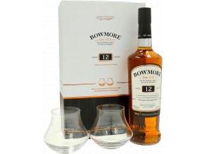Bowmore 12 Years Islay Single Malt Scotch Whisky 0,7l se skleničkami