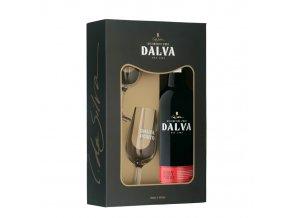 Portské víno Dalva Ruby Porto 0,75 l dárkové balení se skleničkami