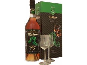 Rum Malteco 15 yo 0,7 l se skleničkami