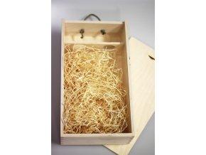Dřevěná krabice pro 2 vína s krytem - dárkové balení