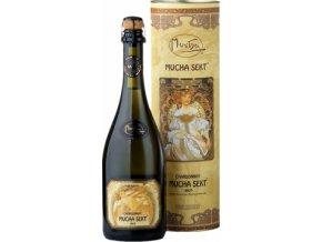 Chardonnay Mucha Sekt 0,75l v dárkovém boxu