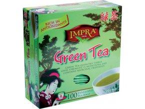 Čaj Impra Green tea - Čínský zelený čaj Pure Ceylon sáčkový 100 ks