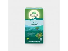 BIO Čaj Tulsi Brahmi  - bazalka posvátná 25 sáčků Organic India