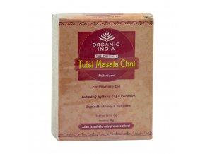 BIO Čaj Tulsi Masala  - směs bylin černý čaj exotické koření sypaný 50g Organic India