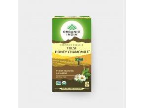 BIO Čaj Tulsi Med a heřmánek sáčkový 18ks Organic India