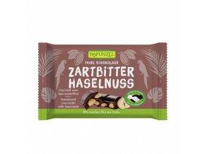 BIO Čokoláda hořká s lískovými oříšky 100g Rapunzel