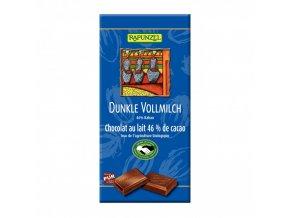 BIO Čokoláda hořko mléčná 100g Rapunzel