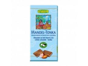 cokolada mlecna s naplni mandle tonka rapunzel bio 100 g