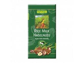 cokolada ryzova s kousky orisku rapunzel bio 100 g