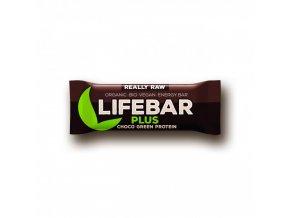 BIO Lifebar plus čokoláda a konopný protein tyčinka RAW 47g Lifefood