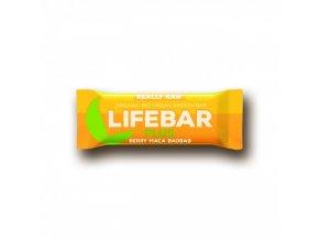 BIO Lifebar plus třešňová s macou a baobabem tyčinka RAW 47g Lifefood