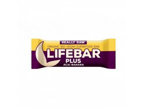 lifebar plus tycinka acai s bananem lifefood bio 47 g