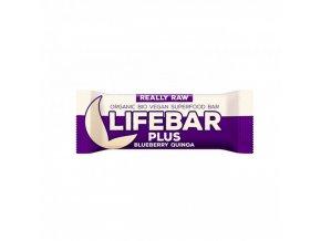 BIO Lifebar plus borůvková quinoa tyčinka RAW 47g Lifefood